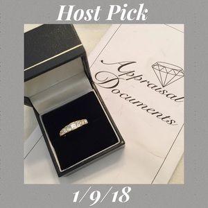 ⬇️FINAL✂️ 18K Gold Princess Cut Diamond Ring